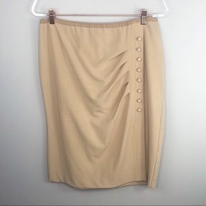 New York & Co. Beige Skirt with Buttons